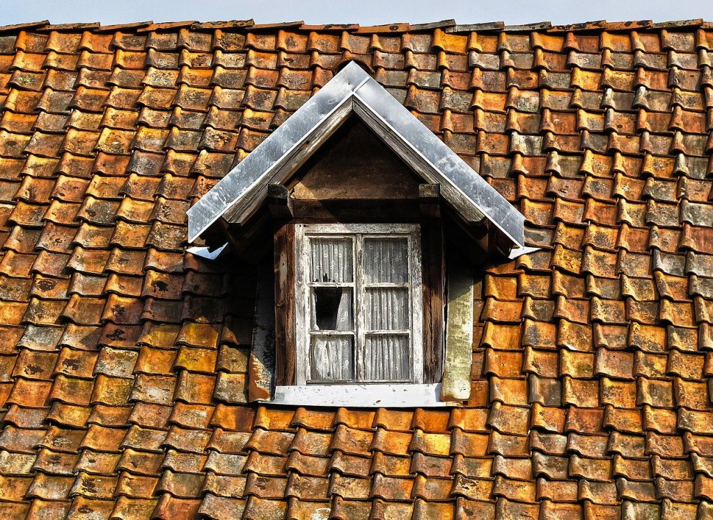 roof, tile, wooden windows