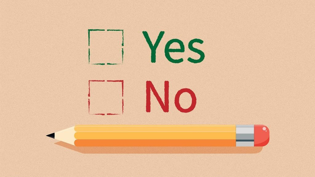 yes no, question, checkbox